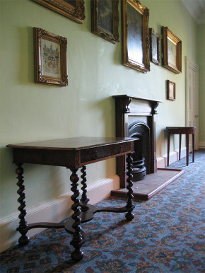 V&A side tables in place at Sewerby Hall