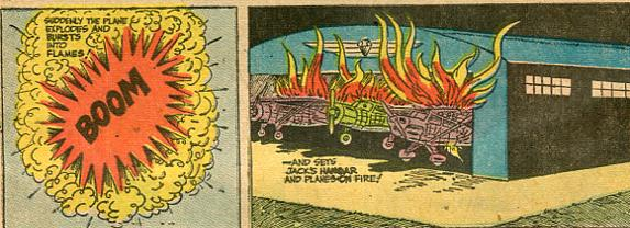 Panel from The Adventures of Smilin' Jack, 1947.