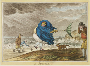 'A Squall,' James Gillray, 1810. © Victoria and Albert Museum, London.
