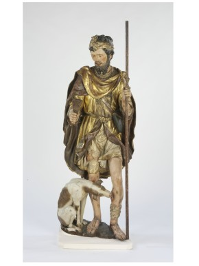 A.66-1951, painted and gilded wooden statue, St. Roch complete with canine nurse © Victoria and Albert Museum, London