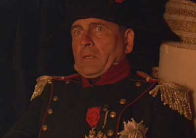 Ian Holm as Napoleon in Time Bandits