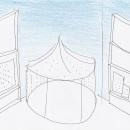 Sketch of Tipu's tent by Designer, Gitta Gschwendtner