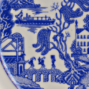 Detail of the Potteries Willow © Potteries Museum & Art Gallery, Stoke-on-Trent.