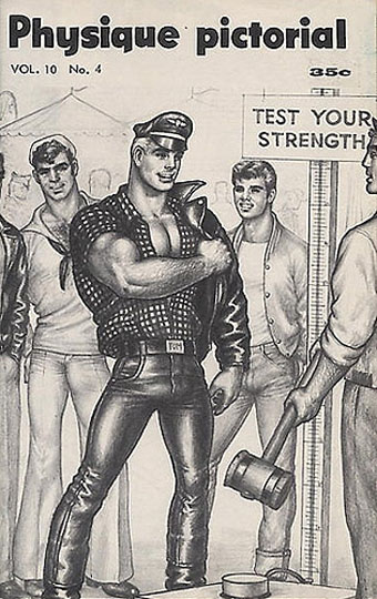 Physique Pictorial cover by Tom of Finland (1961).