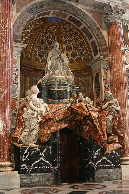 Bernini's last work in the St. Peter's Basilica, The tomb of Pope Alexander VII, Vatican. Photograph by Hornplayer