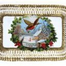Christmas card with robin motif