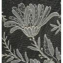 Detail of flower motif on needle lace veil, Belgian, 1890