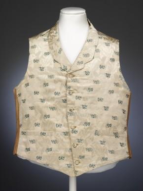Silk waistcoat worn by George Higgs, 1853