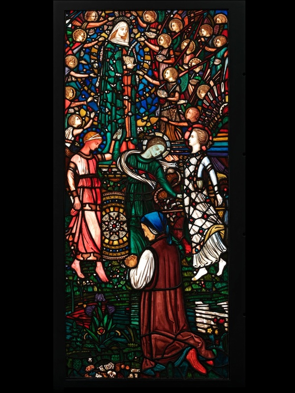 Vision of Beatrice, coloured glass with painted details, Nathaniel H. J. Westlake, ca. 1863. Museum no. 780-186 © Victoria and Albert Museum, London
