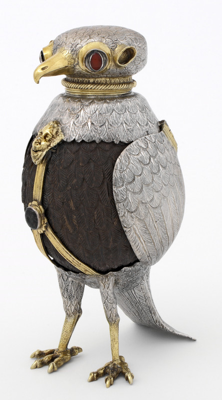 FALCON CUP Silver, coconut, cameo, semi-precious stones Ulm (Germany), ca. 1600 Museum no. Loan:Gilbert.61:1,2-2008