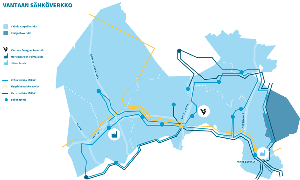 Sahko Ja Kaukolampoverkot Vantaalla Vantaan Energia