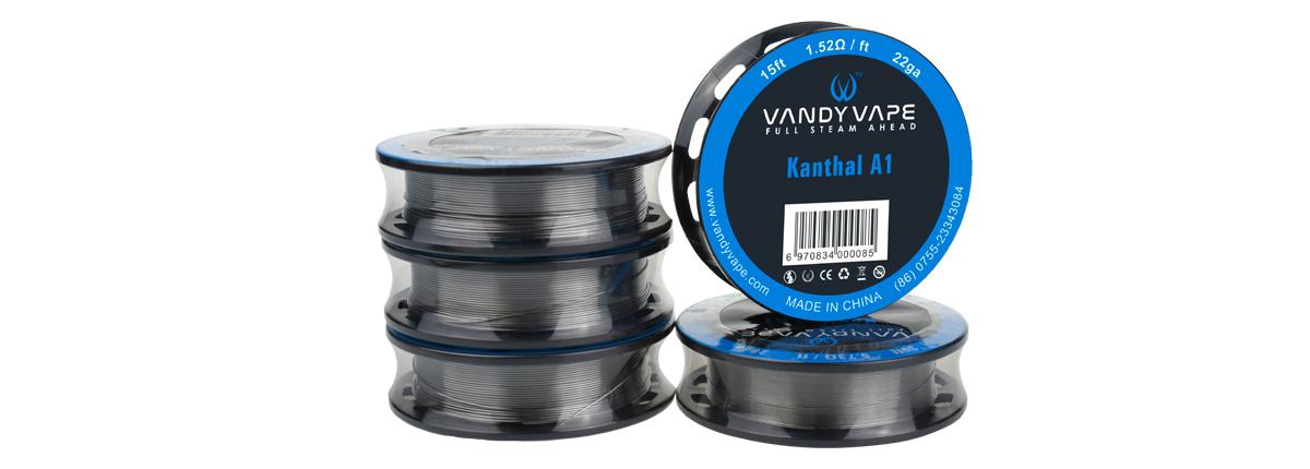 Vous cherchez des bobines de Kanthal A1, de Nichrome 80 ou de SS ? Alors, découvrez les fils résistifs de Vandy Vape. Du classique et aussi des coils avancés.