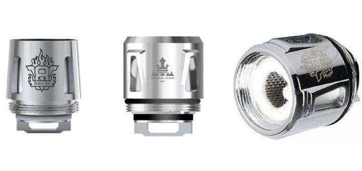Les résistances Smok X4, Q4 et Baby Mesh sont les meilleures en termes de saveur et de vapeur pour le TFV8 Baby.