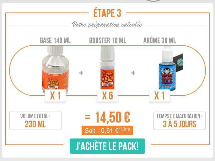 Le DIY Facile du Petit Vapoteur vous permet d'avoir 240 ml de liquides comme l'Heisenberg ou le Red Astairs pour environ 15 euros.