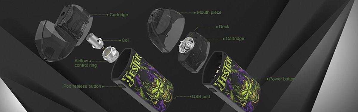 Jester Pod de Vapefly est un Pod reconstructible. Après le Pasito Pod de Smoant, c'est la nouvelle tendance du moment.
