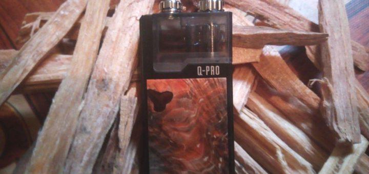 Lost Vape nous propose le pod Q-Pro avec des designs en bois stabilisé. Superbe et polyvalent, il est compatible avec les résistances de l'Orion Plus.