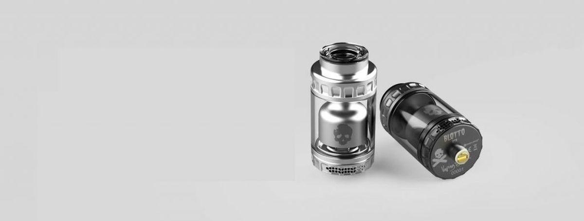 El Dovpo Blotto RTA promete ser pesado. Un atomizador de coil simple y doble con un flujo de aire que ofrece una gran versatilidad.