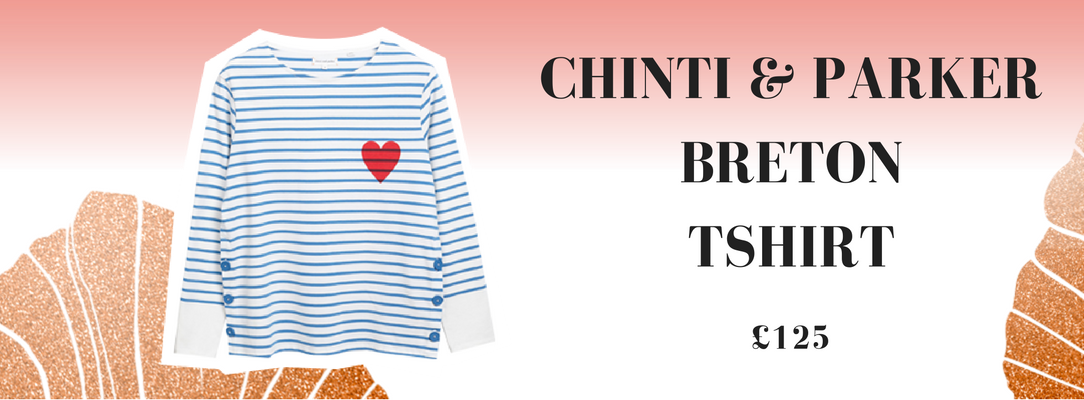 Chinti and Parker Cream Breton Heart Top