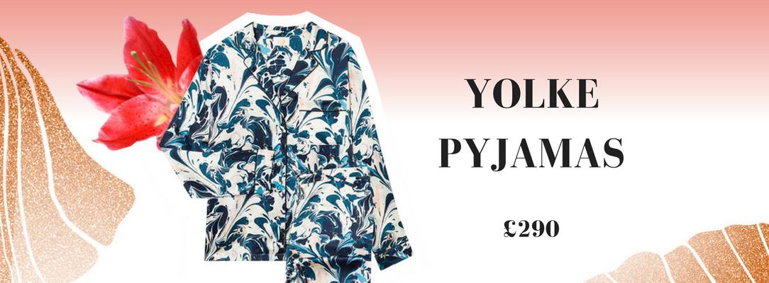 Yolke Marbled Silk Pyjamas Vela