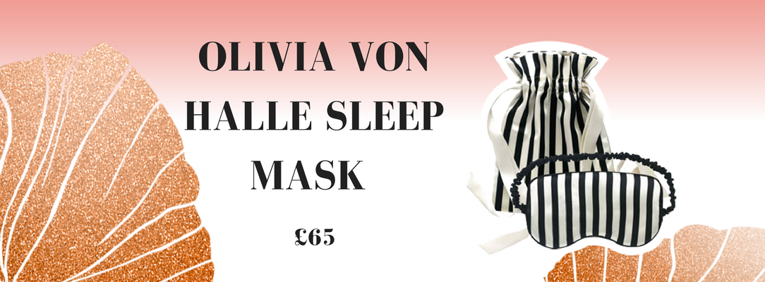 Olivia Von Halle Nika reversible striped silk-satin sleep mask