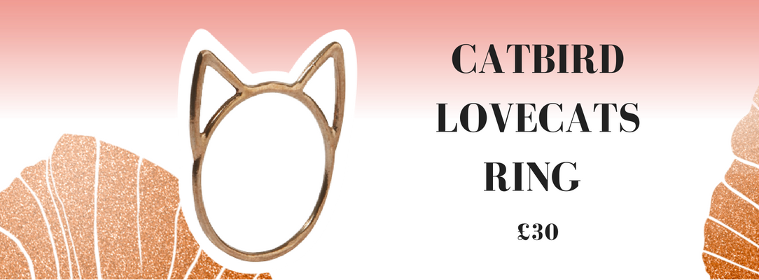 Catbird Lovecats Ring Vela