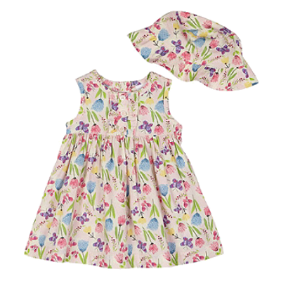 6749bb25b20802 Debenhams bluezoo Baby girls  pink floral print dress and hat £12.00 - 13.00