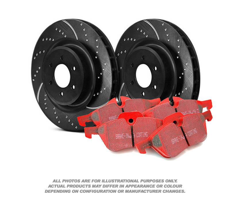 EBC Rear Brake Kit Discs /& Pads for Audi S4 B6//8E//8H 4.2 344 2003-2008