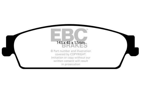 EBC Greenstuff Uprated Front Brakes Pads DP2945