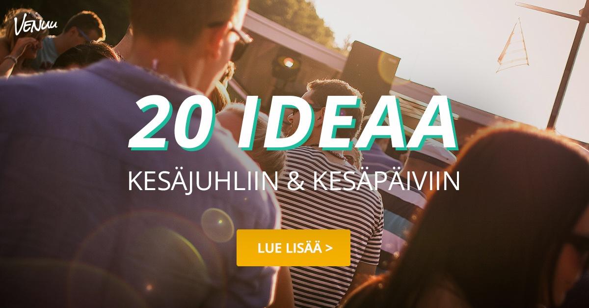 20 ideaa kesäjuhliin ja kesäpäiviin - Venuu.fi