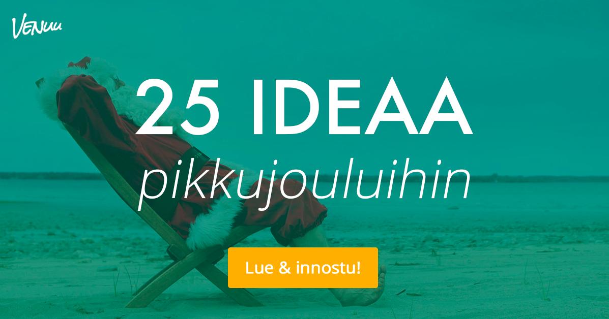 25 ideaa pikkujouluihin – parhaat elämykset ja aktiviteetit ryhmille