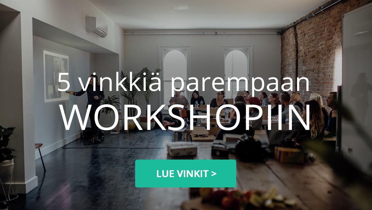 5 vinkkiä parempaan workshopiin - Venuu.fi