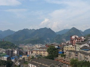 Colinas en la ciudad de Maotai