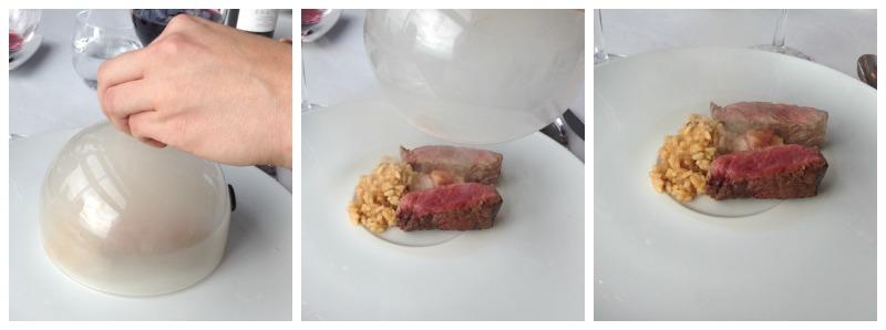 Presentación Aragón: Vaca, arroz y pastel jugoso