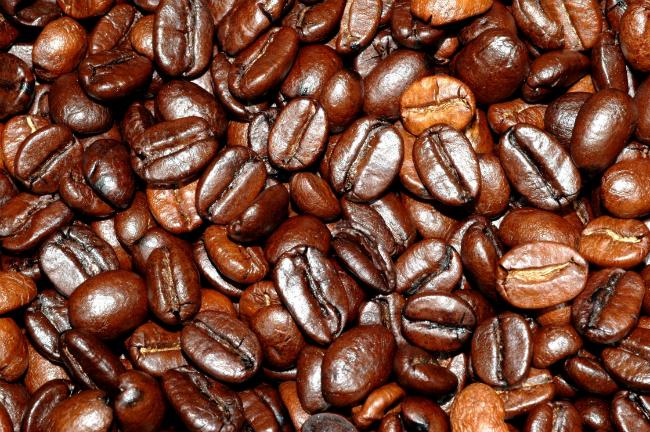 Granos tostados de café