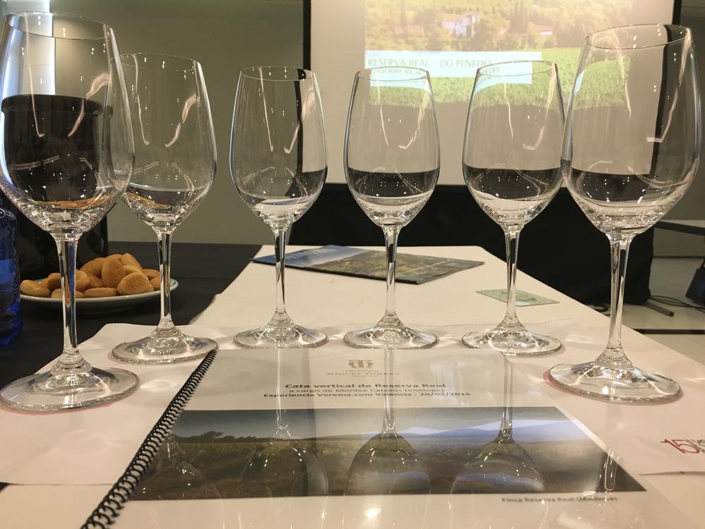 Cata Vertical del vino Reserva Real de Bodegas Torres