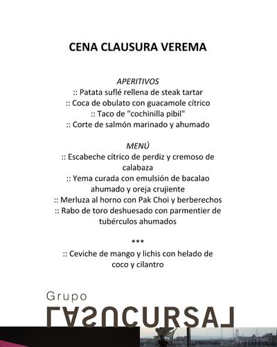 Cena de Clausura de la XV Experiencia Verema Valencia