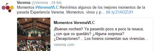 Momentos Twitter Verema Valencia