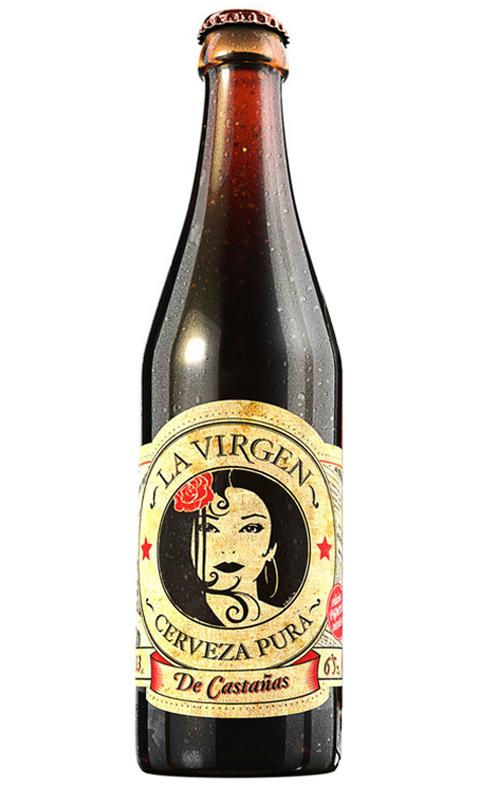 Cerveza La Virgen de castañas