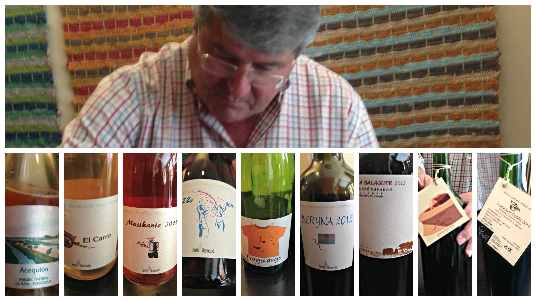 Rafa Bernabé y sus vinos