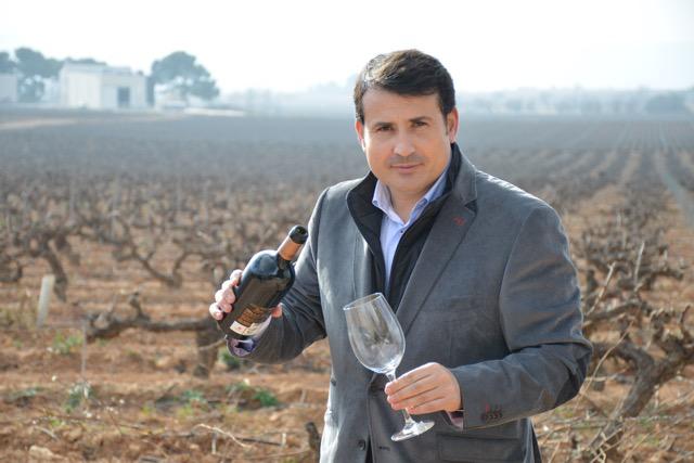 Pablo Ossorio en el viñedo
