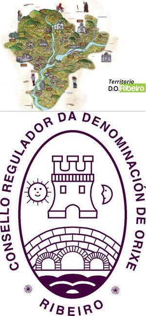 Mapa del Ribeiro y Escuro de la DO
