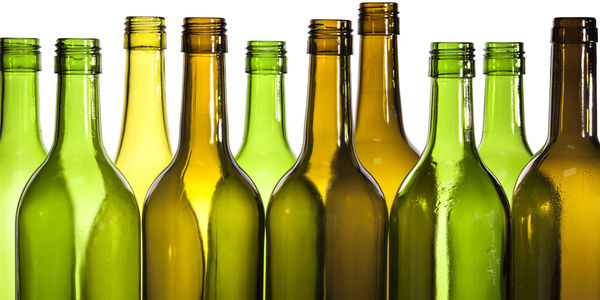 Color botellas del vino