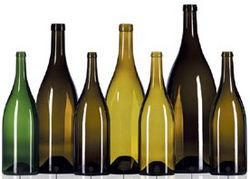 Color botellas de vidrio