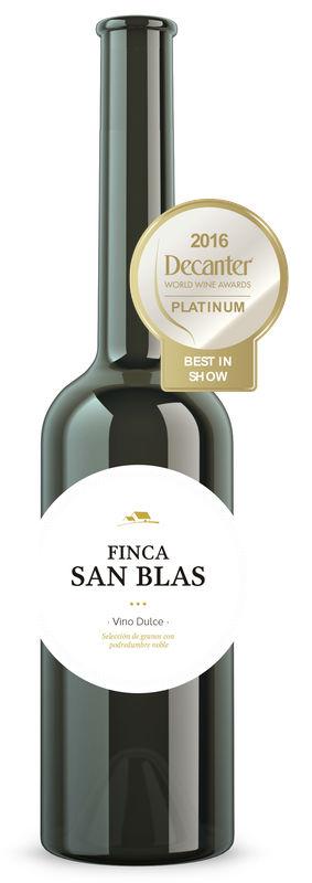"""Vino blanco dulce botrificado de Finca San Blas es galardonado con el premio de """"Mejor Vino Dulce del Mundo"""""""