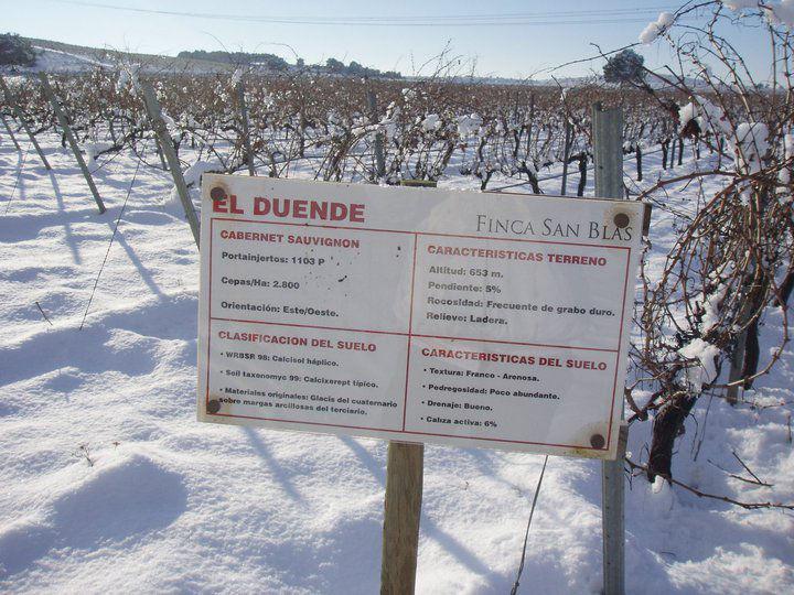 Finca San Blas en invierno