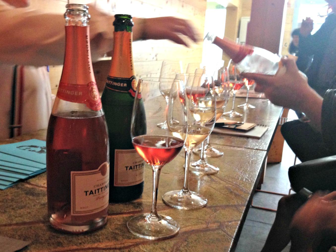 Champagne Taittinger en la presentación de Chivite en Valencia