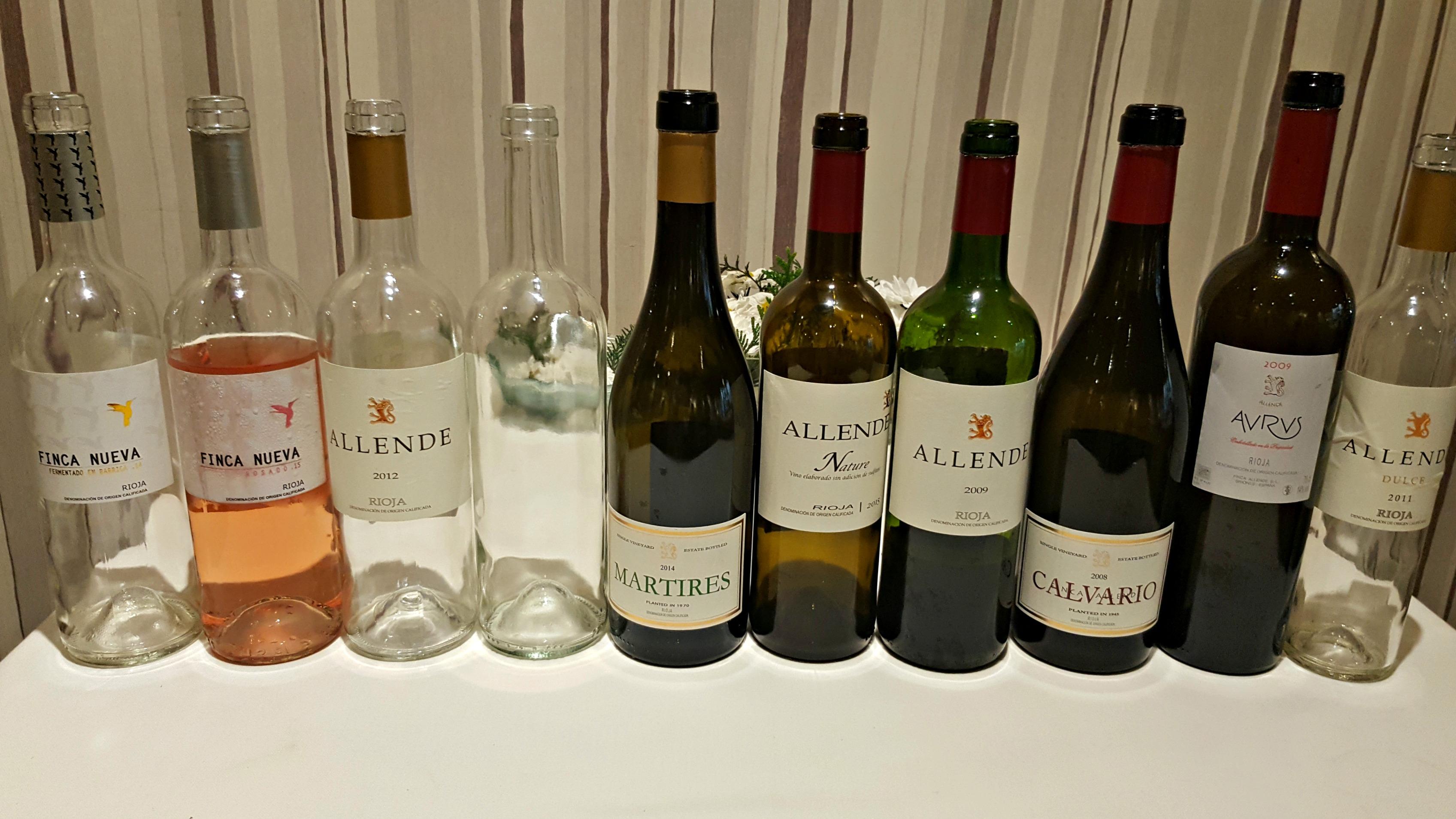 Comida-presentación con Miguel Ángel de Gregorio: todos los vinos