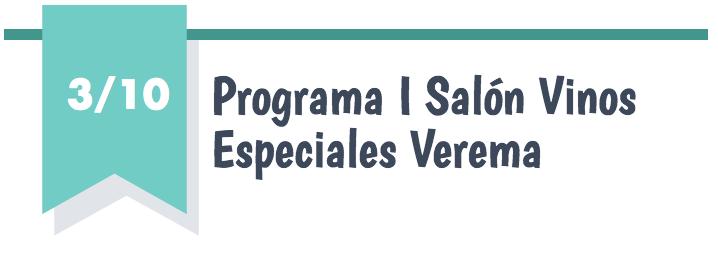 Programa I Salón Vinos Especiales