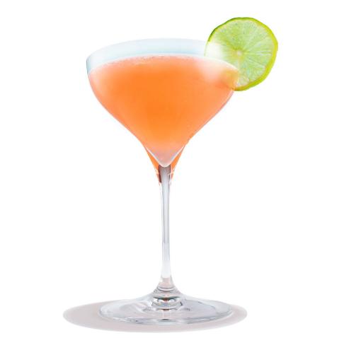 Tequila + zumo de limón + sirope simple + Campari + zumo de uva = Siesta