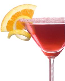 Vodka + zumo de limón + triple seco + zumo de arándanos = Cosmopolitan